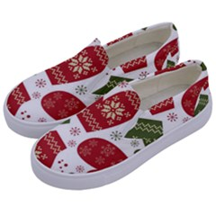 Winter Snow Mittens Kids  Canvas Slip Ons by allthingseveryone