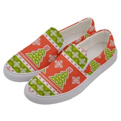 Christmas Tree Ugly Sweater Pattern Men s Canvas Slip Ons by allthingseveryone