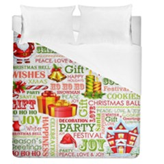 The Joys Of Christmas Duvet Cover (queen Size) by AllThingsEveryone