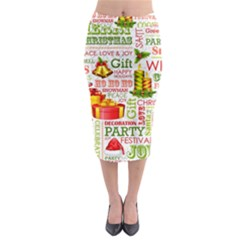 The Joys Of Christmas Midi Pencil Skirt by AllThingsEveryone