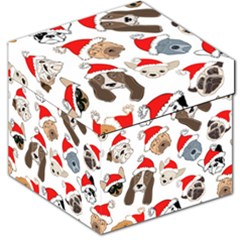 Christmas Puppies Storage Stool 12   by AllThingsEveryone