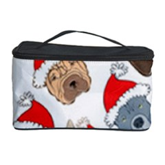 Christmas Puppies Cosmetic Storage Case by AllThingsEveryone
