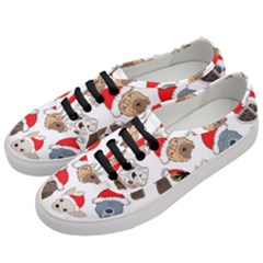 Christmas Puppies Women s Classic Low Top Sneakers by allthingseveryone