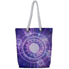 Blue Fractal Alchemy Hud For Bending Hyperspace Full Print Rope Handle Bag (small)