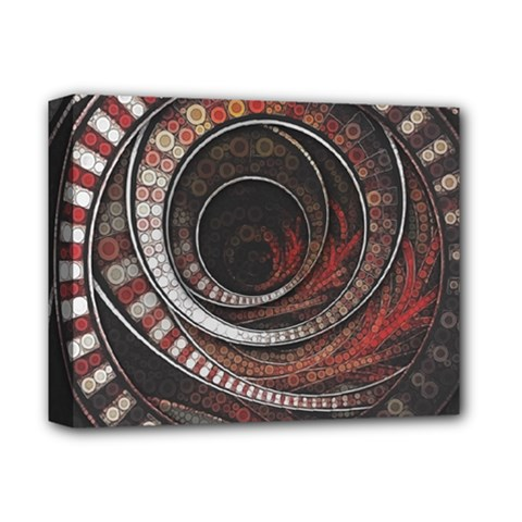 The Thousand And One Rings Of The Fractal Circus Deluxe Canvas 14  X 11  by jayaprime