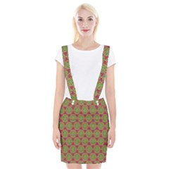 Red Green Flower Of Life Drawing Pattern Braces Suspender Skirt