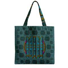 Freedom Is Every Where Just Love It Pop Art Zipper Grocery Tote Bag by pepitasart