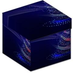 Christmas Tree Blue Stars Starry Night Lights Festive Elegant Storage Stool 12   by yoursparklingshop