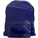 Christmas Tree Blue Stars Starry Night Lights Festive Elegant Giant Full Print Backpack