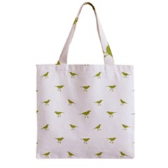 Birds Motif Pattern Grocery Tote Bag by dflcprints