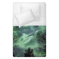 Northern Lights In The Forest Duvet Cover (single Size) by Ucco