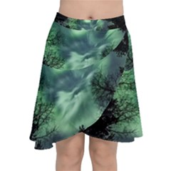 Northern Lights In The Forest Chiffon Wrap by Ucco