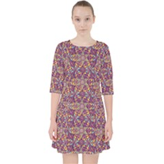 Flower Kaleidoscope 2 01 Pocket Dress by Cveti