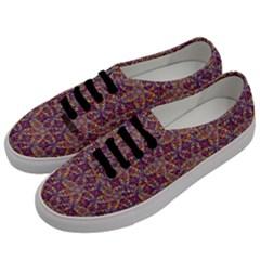 Flower Kaleidoscope 2 01 Men s Classic Low Top Sneakers by Cveti