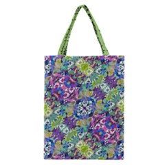 Colorful Modern Floral Print Classic Tote Bag by dflcprints