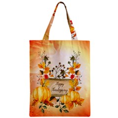 Happy Thanksgiving With Pumpkin Classic Tote Bag by FantasyWorld7