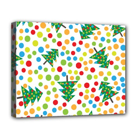 Pattern Circle Multi Color Deluxe Canvas 20  X 16   by Celenk
