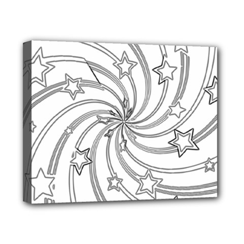 Star Christmas Pattern Texture Canvas 10  X 8  by Celenk