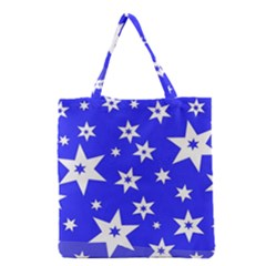 Star Background Pattern Advent Grocery Tote Bag by Celenk