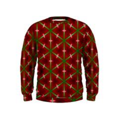 Textured Background Christmas Pattern Kids  Sweatshirt by Celenk