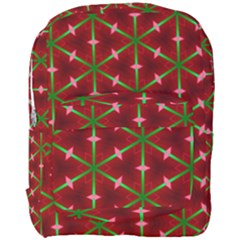 Textured Background Christmas Pattern Full Print Backpack