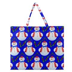 Seamless Repeat Repeating Pattern Zipper Large Tote Bag by Celenk