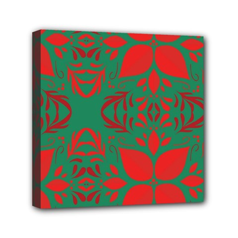 Christmas Background Mini Canvas 6  X 6  by Celenk