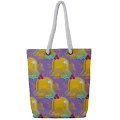 Seamless Repeat Repeating Pattern Full Print Rope Handle Bag (small)