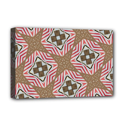 Pattern Texture Moroccan Print Deluxe Canvas 18  X 12   by Celenk