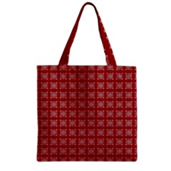 Christmas Paper Wrapping Paper Zipper Grocery Tote Bag by Celenk