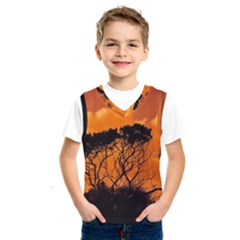 Trees Branches Sunset Sky Clouds Kids  Sportswear by Celenk