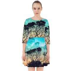 Trees Branches Branch Nature Smock Dress by Celenk