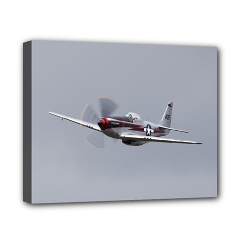 P 51 Mustang Flying Canvas 10  X 8  by Ucco