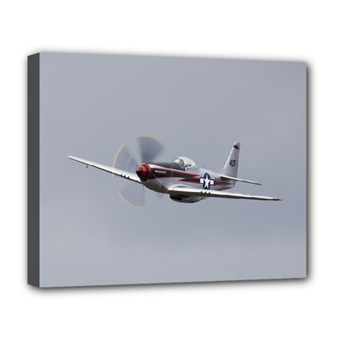 P 51 Mustang Flying Deluxe Canvas 20  X 16   by Ucco