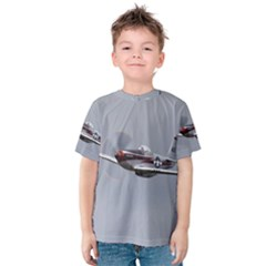 P 51 Mustang Flying Kids  Cotton Tee by Ucco