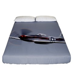 P 51 Mustang Flying Fitted Sheet (king Size) by Ucco