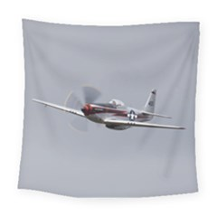 P 51 Mustang Flying Square Tapestry (large) by Ucco