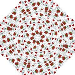 Yeti Xmas Pattern Hook Handle Umbrellas (large) by Valentinaart