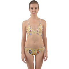 Fun Easter Eggs Wrap Around Bikini Set