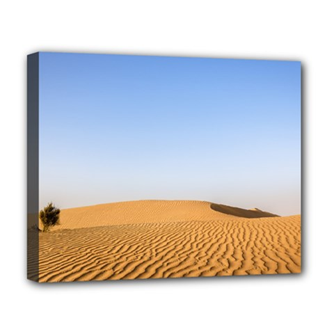 Desert Dunes With Blue Sky Deluxe Canvas 20  X 16   by Ucco