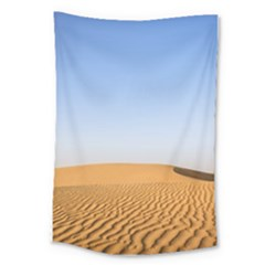 Desert Dunes With Blue Sky Large Tapestry by Ucco