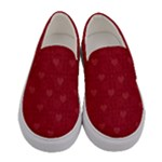 Lots Of Hearts - Women s Canvas Slip Ons