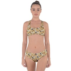 Corgi Dog Criss Cross Bikini Set