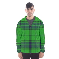Green And Blue Plaid Hooded Wind Breaker (men) by allthingseveryone