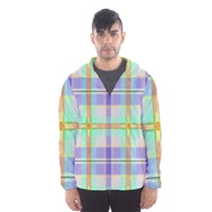 Blue And Yellow Plaid Hooded Wind Breaker (men) by allthingseveryone