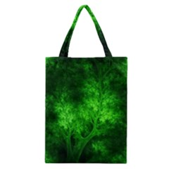 Artsy Bright Green Trees Classic Tote Bag by allthingseveryone