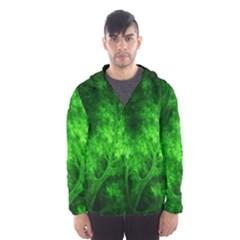 Artsy Bright Green Trees Hooded Wind Breaker (men) by allthingseveryone