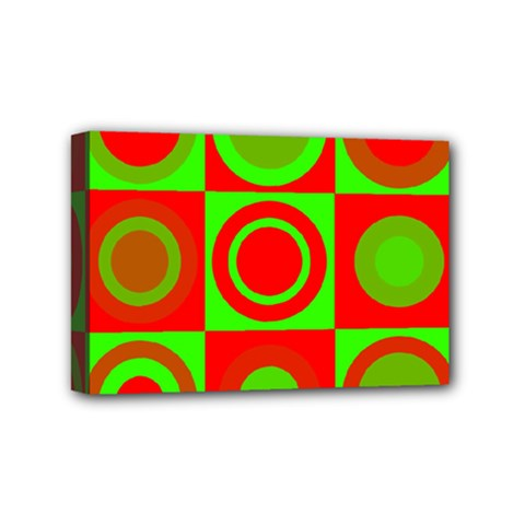 Redg Reen Christmas Background Mini Canvas 6  X 4  by Celenk
