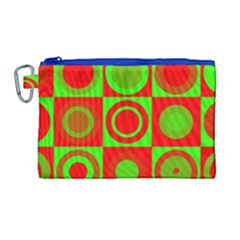 Redg Reen Christmas Background Canvas Cosmetic Bag (large) by Celenk