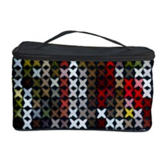 Christmas Cross Stitch Background Cosmetic Storage Case by Celenk